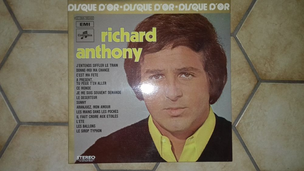 RICHARD ANTHONY, DISQUE D'OR 1975 7 Éragny (95)