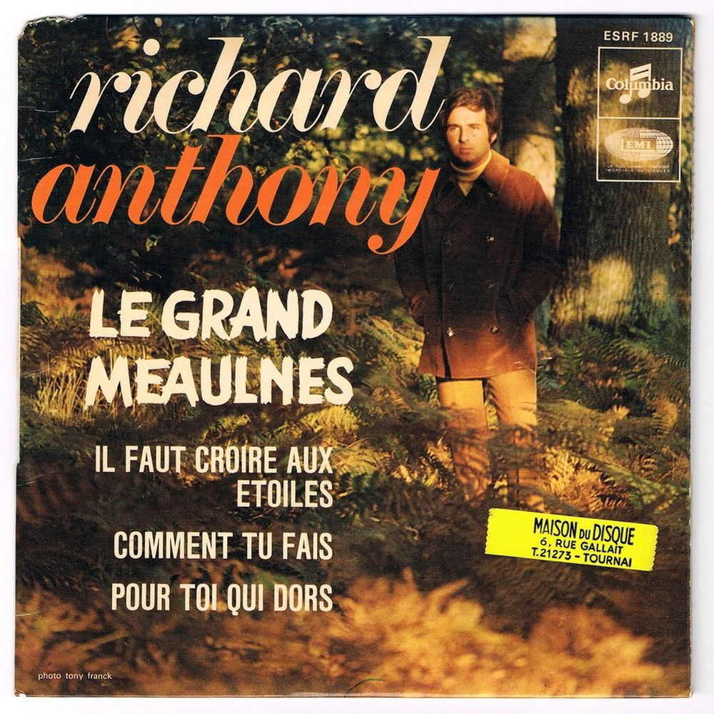 RICHARD ANTHONY -45t EP- LE GRAND MEAULNES - BIEM 1967 2 Tourcoing (59)