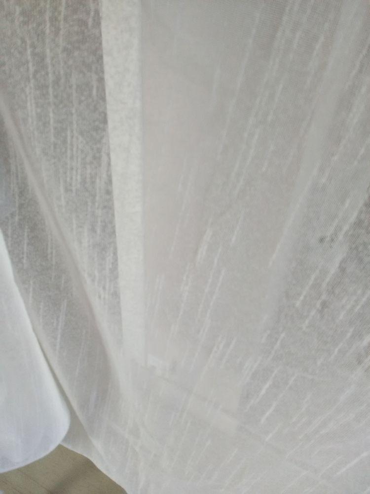 RIDEAU SUR RUFLETTE 150H*160l blanc 15€ Décoration