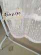 RIDEAU RUFLETTE 200H*110l blanc 20€ Décoration