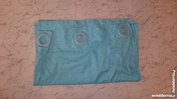 rideau voilage bleu avec anneau 5 Montesson (78)
