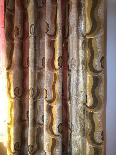 Rideaux doubles ou tissus beau dessin des années 70 25 Montreuil (93)