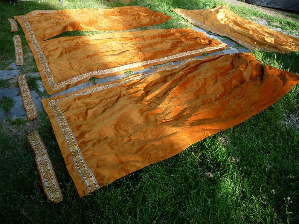 4 rideaux moutarde 126cm x 230cm / embrase 50 Castres (81)