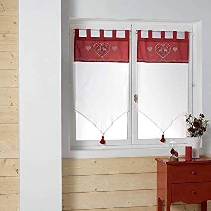 Rideaux neufs pompom passant dimensions longueur 120cm X 60  18 Caen (14)