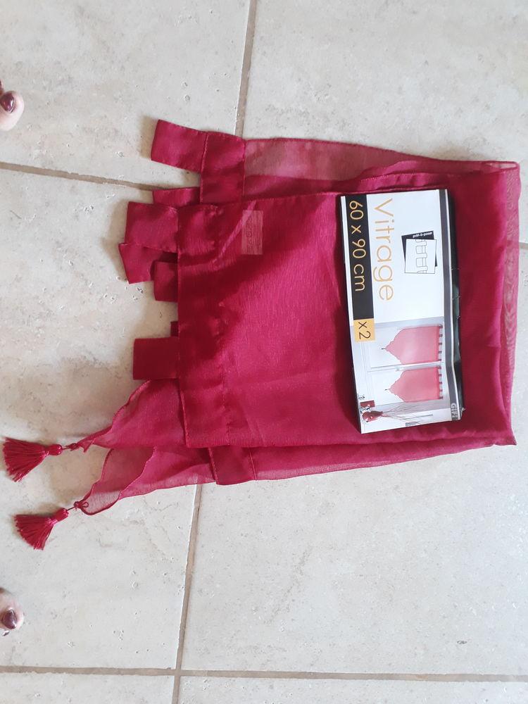rideaux rouge Décoration
