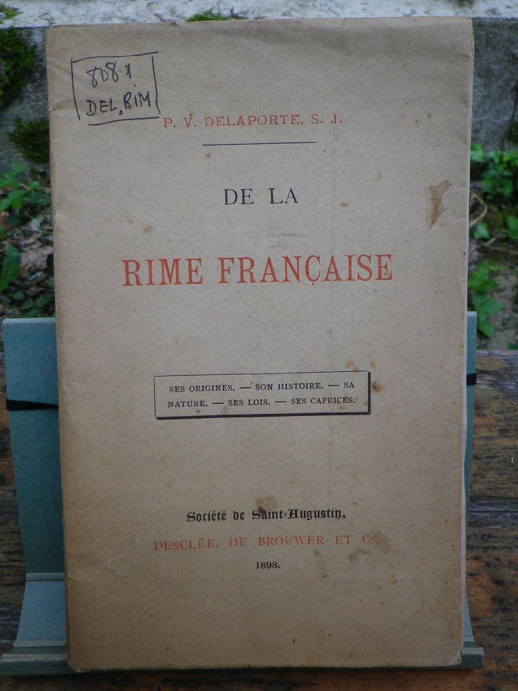 DE LA RIME FRANÇAISE - P.V. DELAPORTE - De BROUWER 1898      15 Tarbes (65)