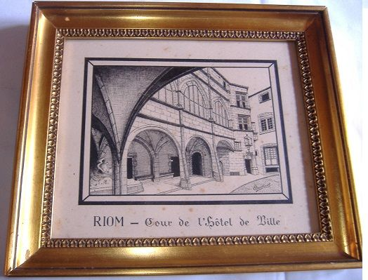 RIOM (63) : LITHOGRAPHIE Ancienne 300 Clermont-Ferrand (63)