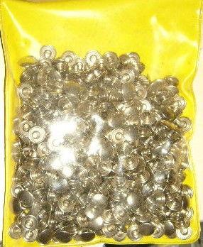 200 rivets tete ronde inox 6mm de diametre Bricolage