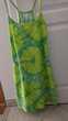 Robe Banana Moon bretelles tons verts/jaunes taille 1 Vêtements