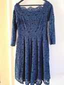 Robe bleu marine dentelle décolleté 60 Le Cannet (06)