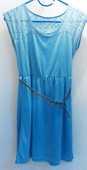 Robe bleu turquoise taille S avec ceinture doré  0 Fontenay-Trésigny (77)