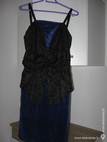 Robe bleue et noire 40 Rambouillet (78)