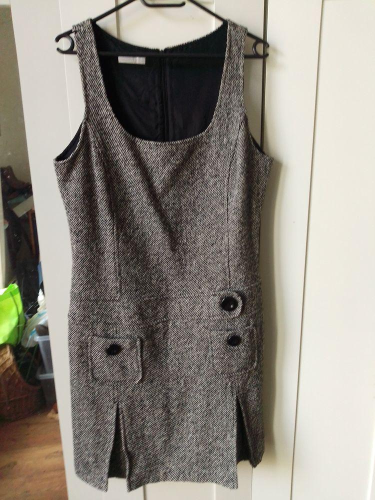 Robe chinée gris clair hiver  10 Mantes-la-Jolie (78)