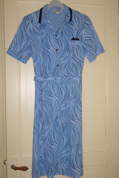 Robe coloris bleu avec motifs  15 Lourdes (65)