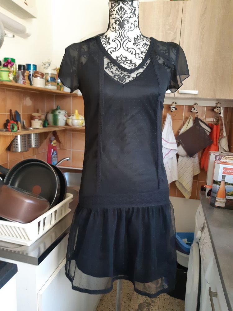 robe doublée NEUVE PLUMETIS GALON NOIRE taille 34 12 Lyon 5 (69)