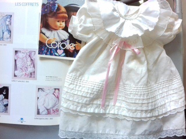 ROBE DE FÊTE, baptême Corolle 1992 pour bébé 36cm ou BENOIT  29 Paris 11 (75)