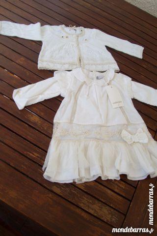 robe et gilet cérémonie fille 9 mois 20 Outreau (62)