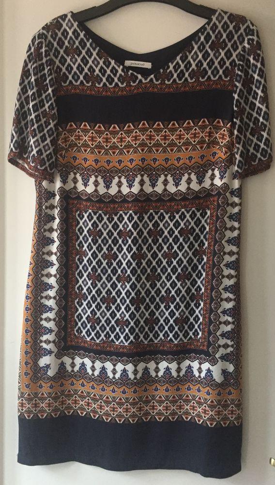 Robe Imprimée manches courtes PROMOD Taille 36 10 Joué-lès-Tours (37)