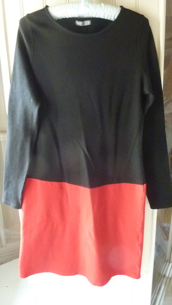 robe en jersey noir la City - robe rouge et noir 5 Plaisir (78)
