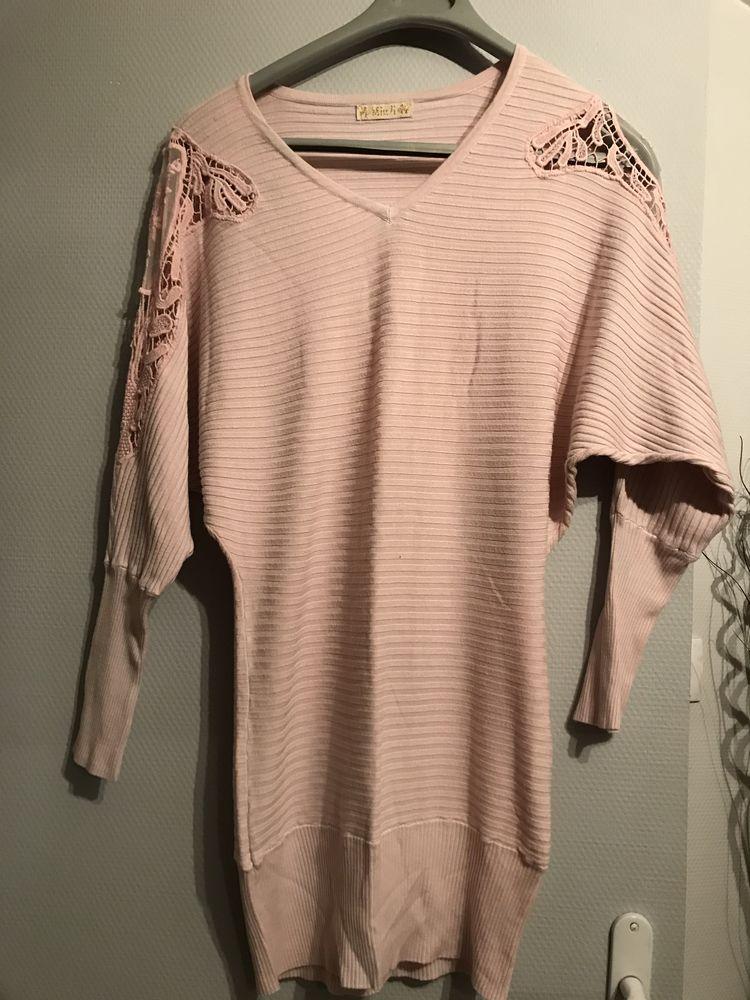 robe ou liquette rose  T. Unique plutôt 40 5 Saint-Genis-Laval (69)