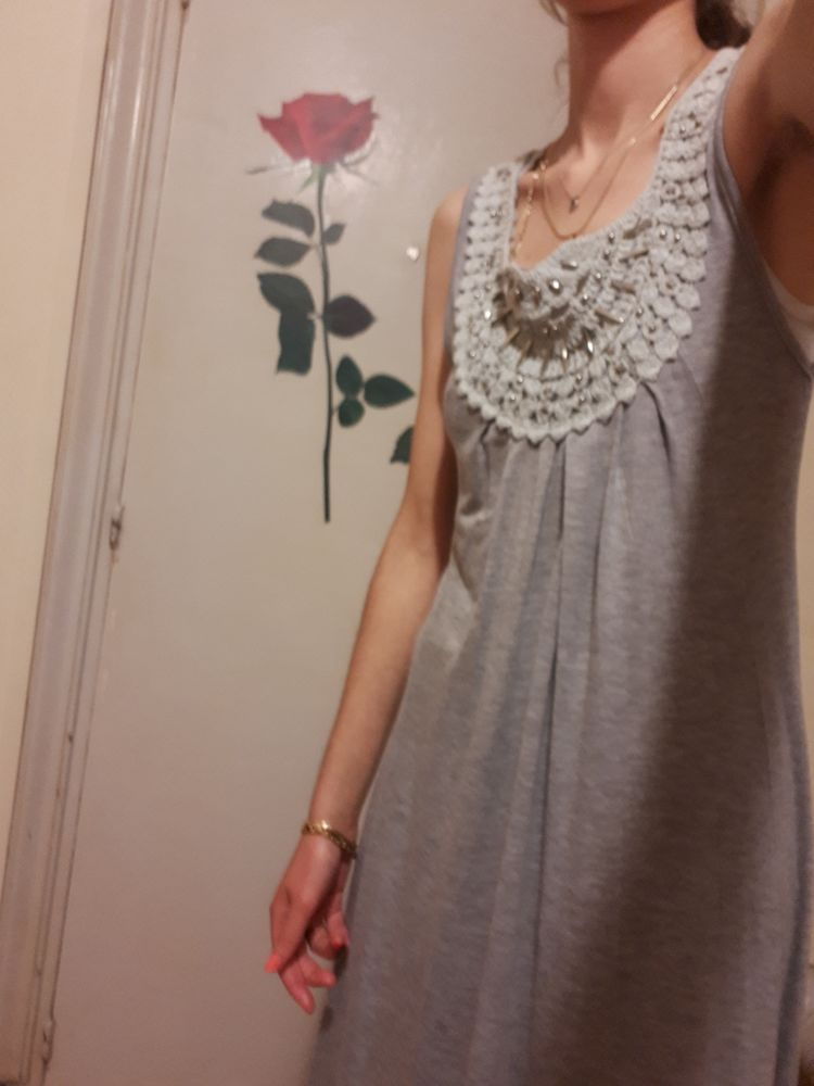 robe longue grise 7 Poitiers (86)