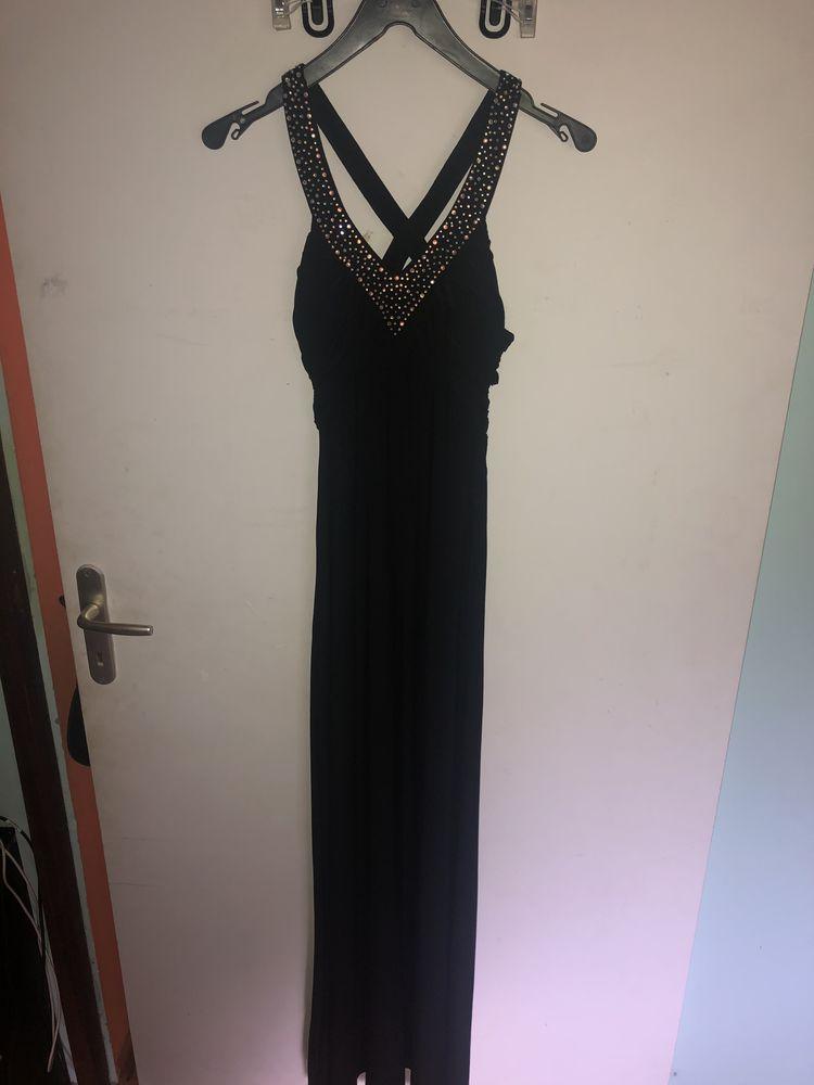 robe longue de soirée noire Vêtements