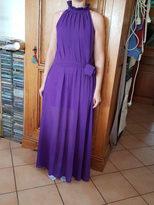 Robe longue violette en voile neuve ceinture à la taille dou 20 Viriat (01)