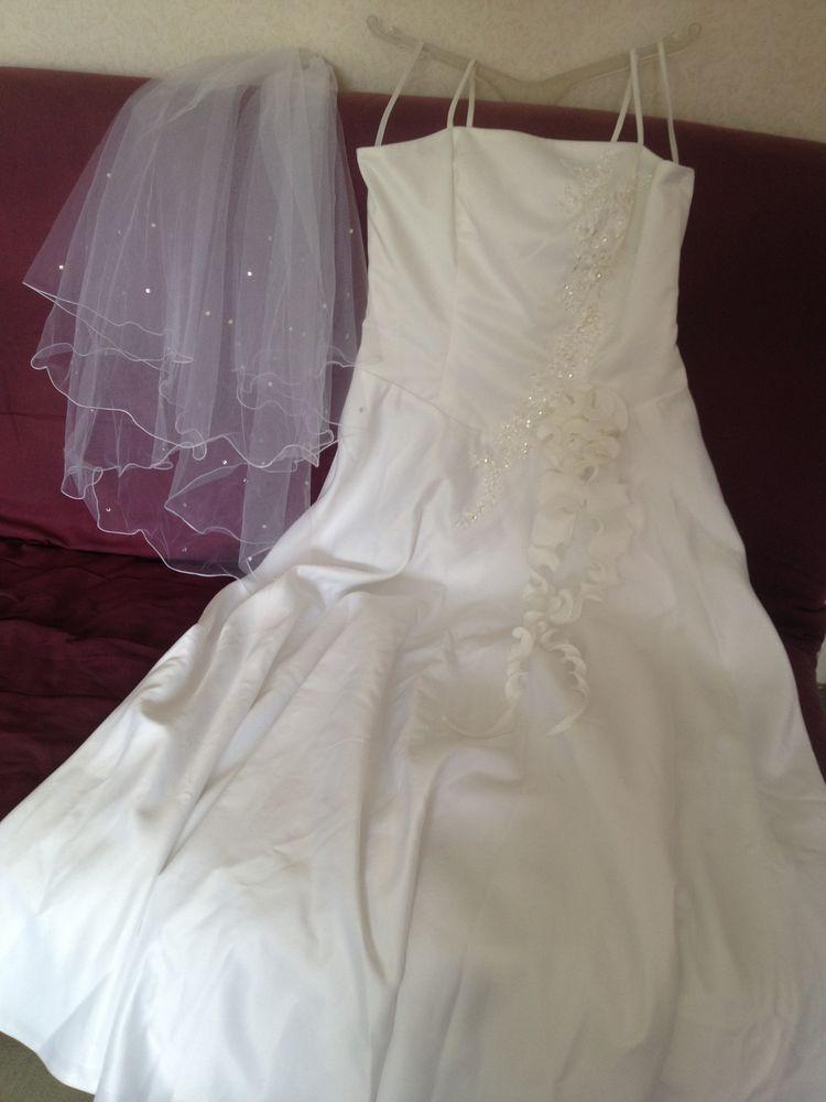 robe de mariée    avec son voile 40 Vigneux-sur-Seine (91)