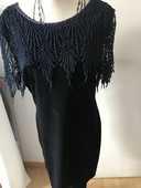 robe marine velours ras  taille 38 dentelle coton 16 Saint-Genis-Laval (69)