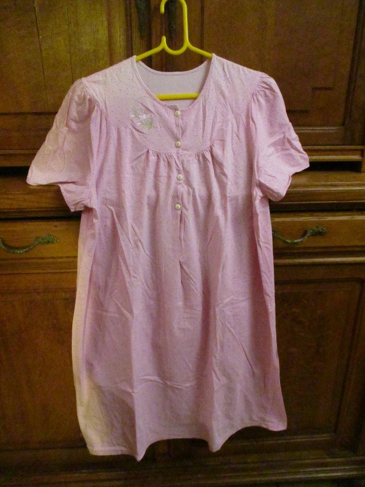 robe de nuit rose  à pois et broder sur le haut gauche  0 Mérignies (59)