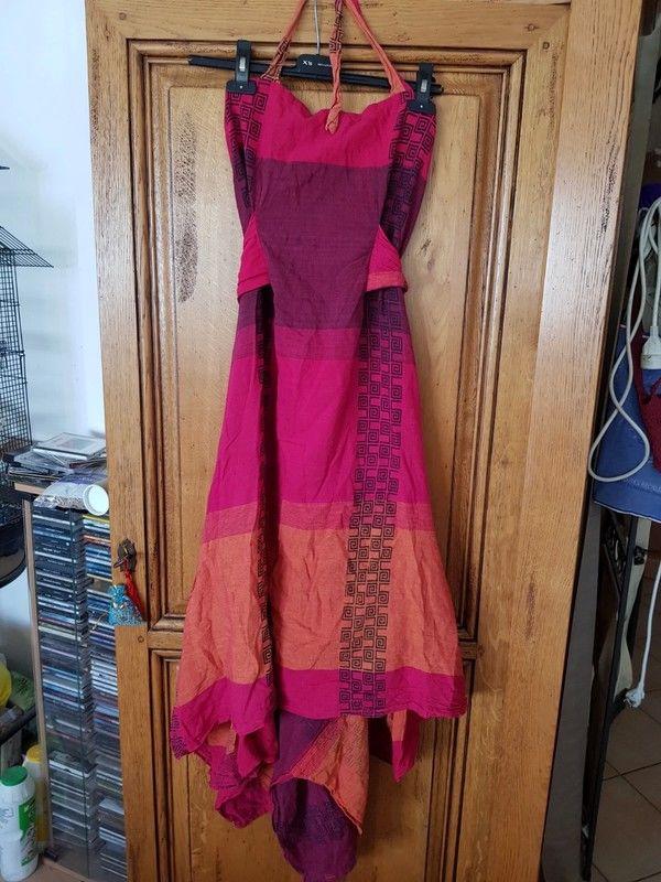 Robe dos nu orange rose neuve se porte soit avec pseudo trai 20 Viriat (01)