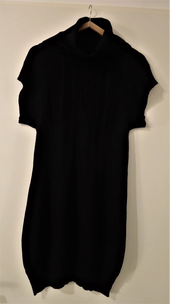 Robe-pull noire Red Seal S + cache-cou Vêtements