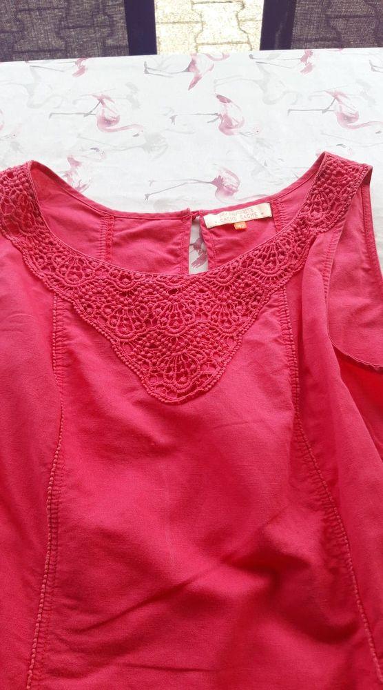 robe rose fuchsia en lin  10 Aubenas (07)