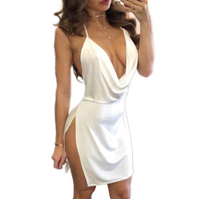 robe de soirée long moulant sexy col v avec dos nu et ouvert 35 Montélimar (26)