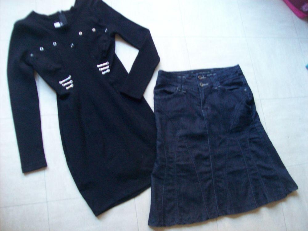ROBE et veste noires, jupe jean foncé - S - zoe 6 Martigues (13)