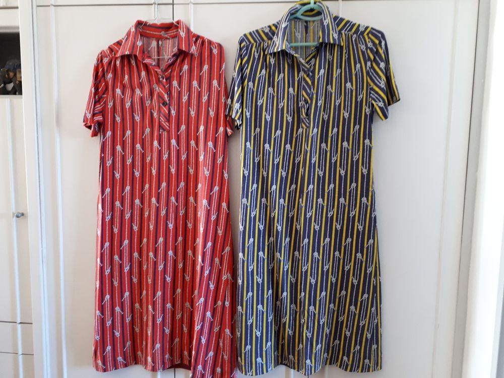 2 robes vintage col chemise  - 38/40 - TBE  - 16 euros les deux 16 Villemomble (93)