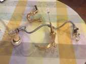 Robinetterie vasque douche baignoire plaquée or  Delépine   0 Biot (06)