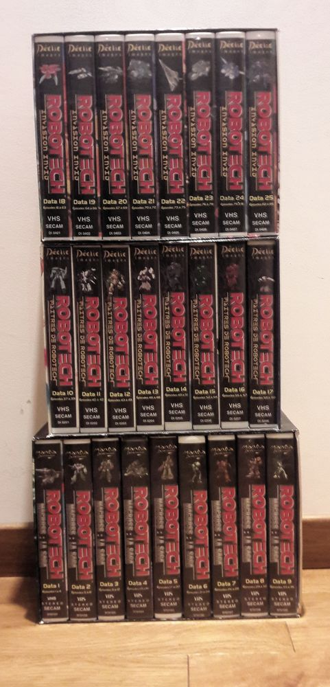 ROBOTECH en VHS 15 Saint-Clément (89)