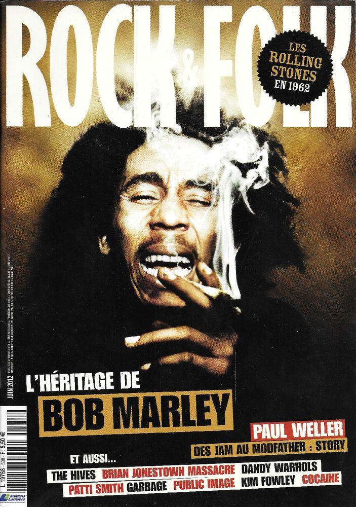ROCK & FOLK n°538 2012  Bob MARLEY  ROLLING STONES GARBAGE  2 Castelnau-sur-Gupie (47)