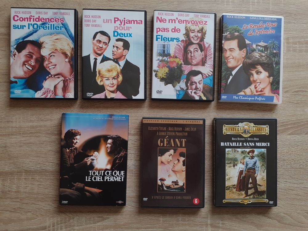 8 DVD ROCK HUDSON . 25 Le Vernois (39)