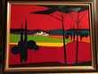 Roger BONAFE (1932)  paysage à la bute fauve 90*116 Bordeaux (33)