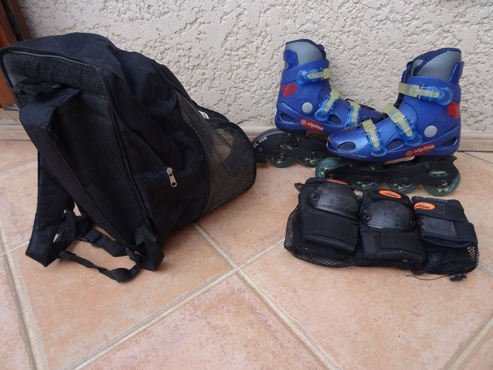 Rollers T37,5 + Housse sac à dos + Protections 30 Marseille 10 (13)