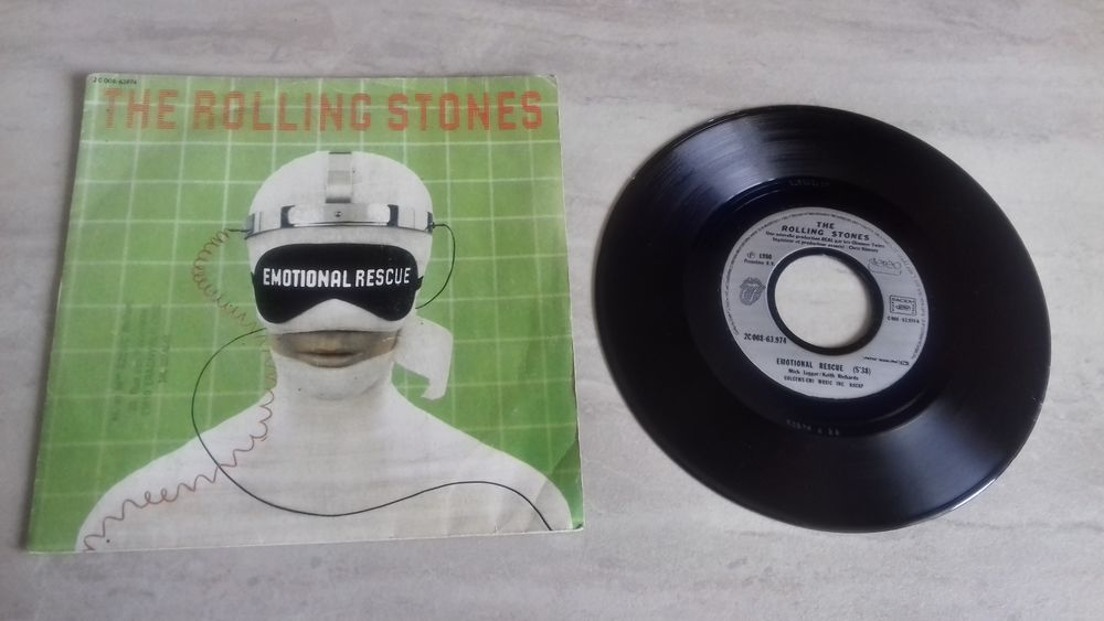 THE ROLLING STONES 1980, vinyle 45 tours 5 Éragny (95)