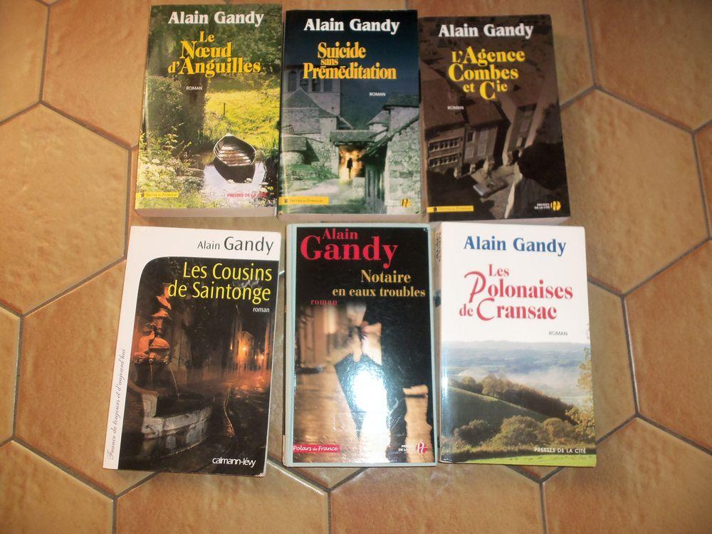 6 ROMANS DE ALAIN GANDY 8 Saint-Georges-de-Mons (63)