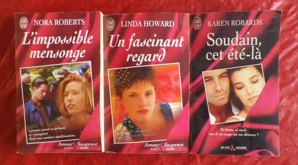 LOT 3 ROMANS AMOUR & SUSPENSE ROSE NOIRE J'AI LU 6 Attainville (95)