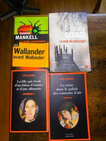 4 romans policiers brochés 15 Brive-la-Gaillarde (19)