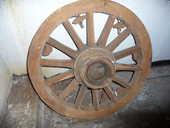Roue ancienne bois pour suspension éclairage 50 Gravelines (59)
