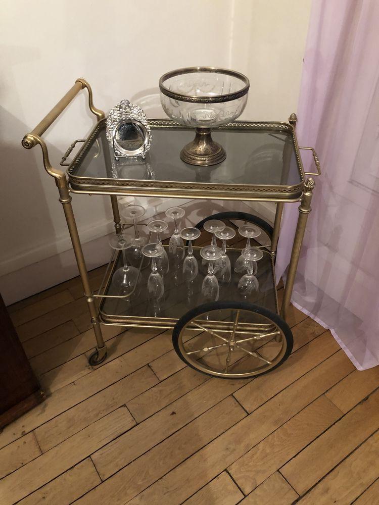 Bar roulant et table gigogne meuble chinois et miroir  0 Paris 16 (75)
