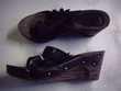 Sabots entredoigts Noir à Fleurs pt 37-3 € Chaussures