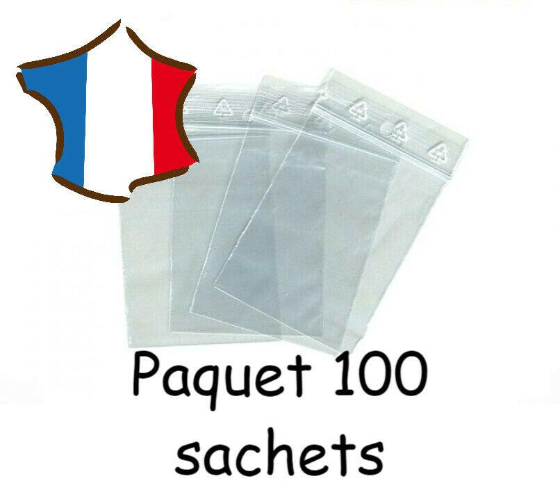 LOT 100 SACHETS PLASTIQUE ZIP EMBALLAGE 80X120 MM NEUF - LIV 7 Marseille 13 (13)